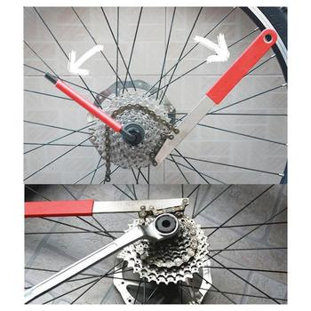 Bicycle Freewheel Turner Chain Whip Cassette Sprocket Remover Tool Freewheel Repair Tools Card Fly Wrench Combination