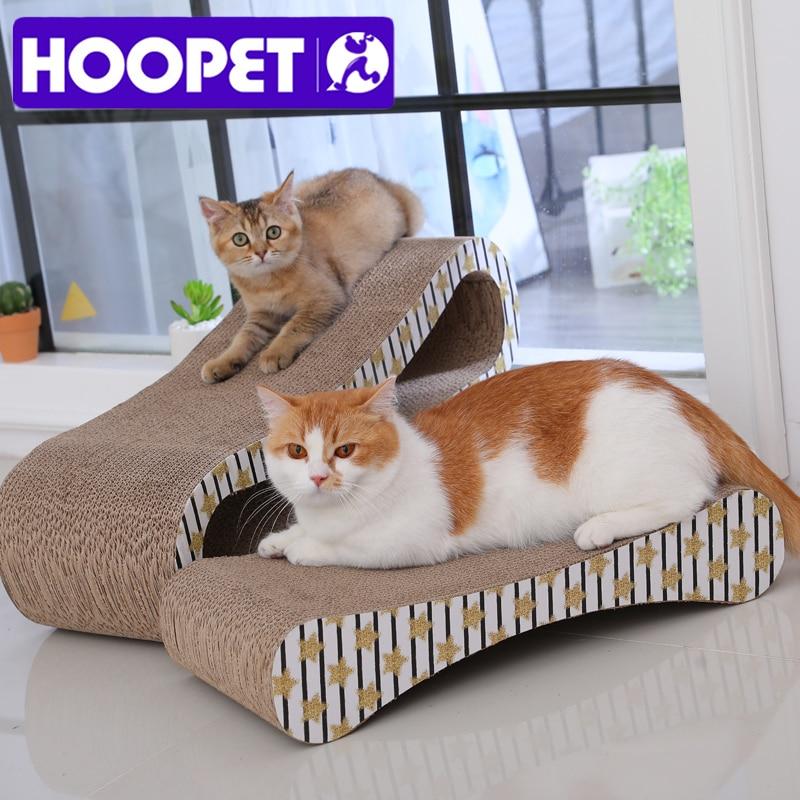 Cat Scratcher giocattoli di carta ondulata con Catnip Infinity Lounge ondulato