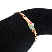 Cute Rainbow Kids Bracelets Baby Armband Gold Children Bracelet Bebe Pulceras Mga Bata Bracciali Bebek Bileklik Dzieci B0929 туфли bata bata ba060ameakr6