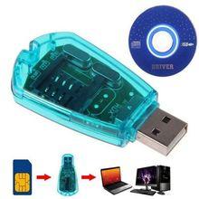 Hot Portable USB SIM Card Reader Writer GSM CDMA WCDMA Copy Cloner Backup With Driver CD Support For Windows XP/Vista/ 7