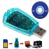 Lector de tarjetas SIM USB portátil caliente escritor GSM CDMA WCDMA copia Cloner copia de seguridad con controlador de CD compatible con Windows XP /Vista/7
