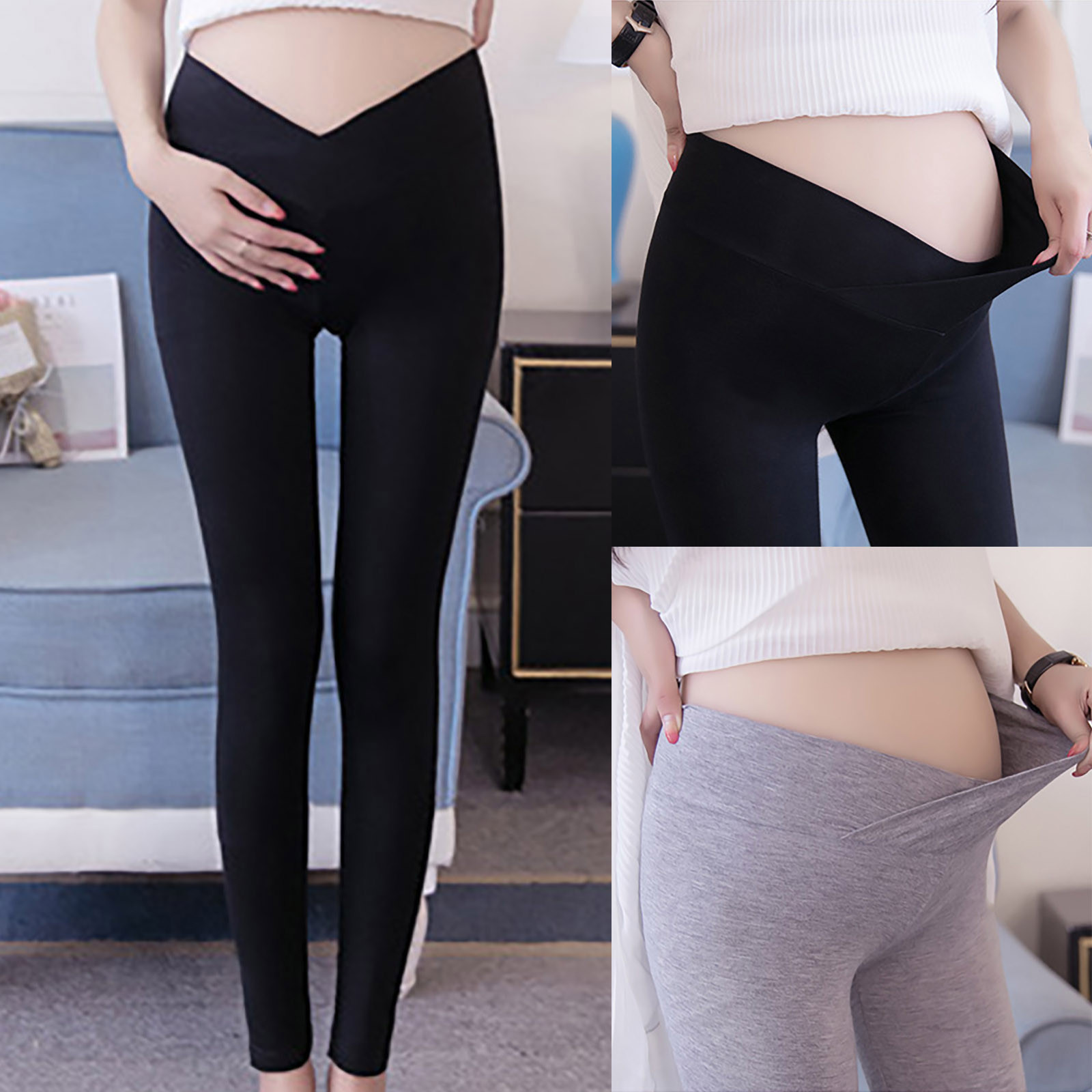 2021Fashion Women Pants Maternity Clothes Solid Color With Comfortable Loose Adjustable Maternity Pants Women Pregnancy Leggings
