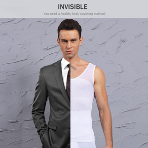 Image 5 - Mens Shapewear Bodysuit Full Body Shaper with Zipper Compression Slimming Suit Breathable Shirt Slim Mens Shapers