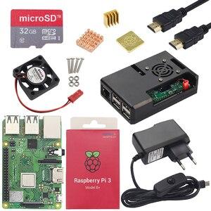 Image 2 - Raspberry Pi 3 Model B lub Raspberry Pi 3 Model B Plus deska + etui z ABS + zasilacz Mini PC Pi 3B/3B + z WiFi i Bluetooth