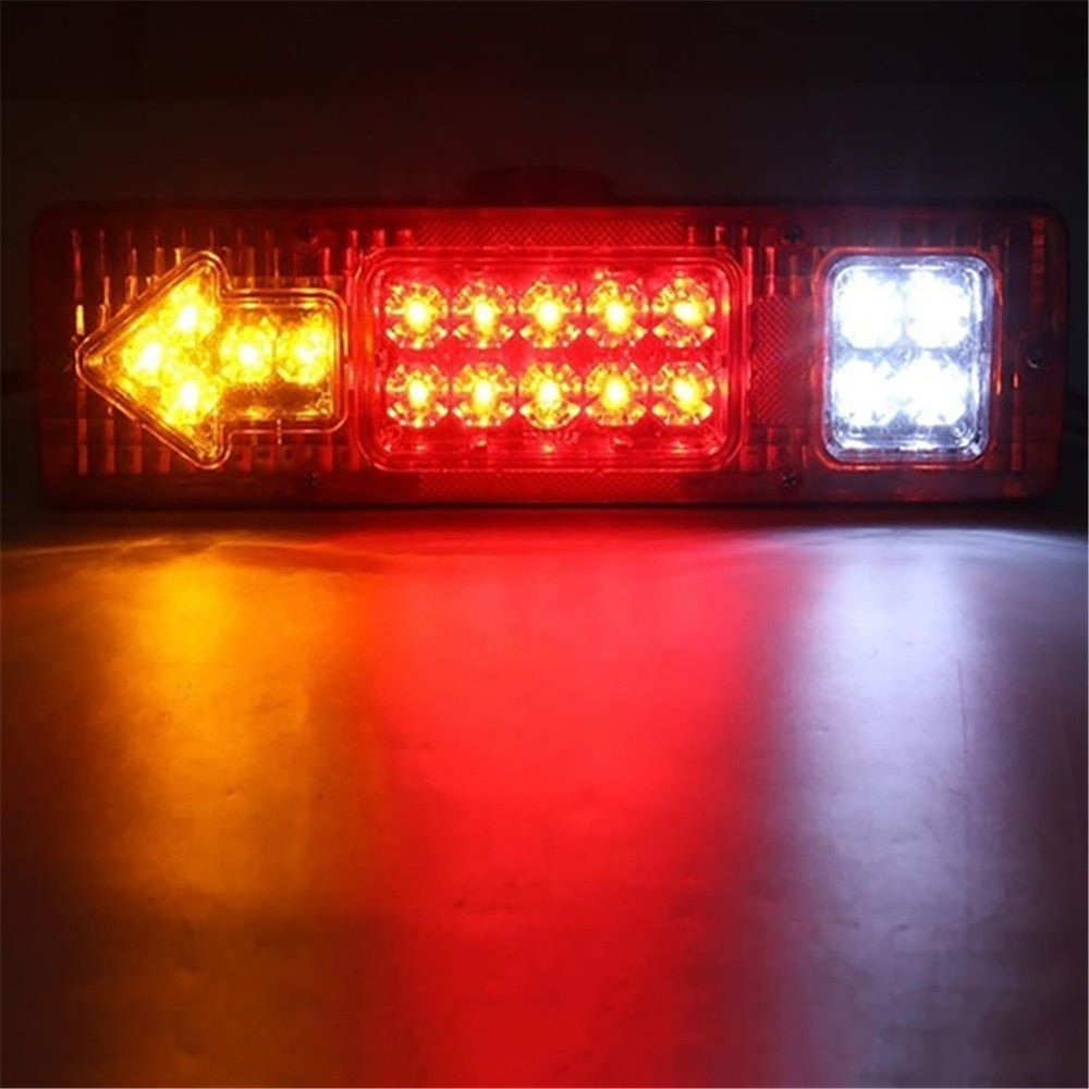 24V 19LED Waterproof Car Rear Tail Lights Brake Stop Light Turn Signal Light Revese Lamp For Trailer Caravan Truck Lorry 1PC