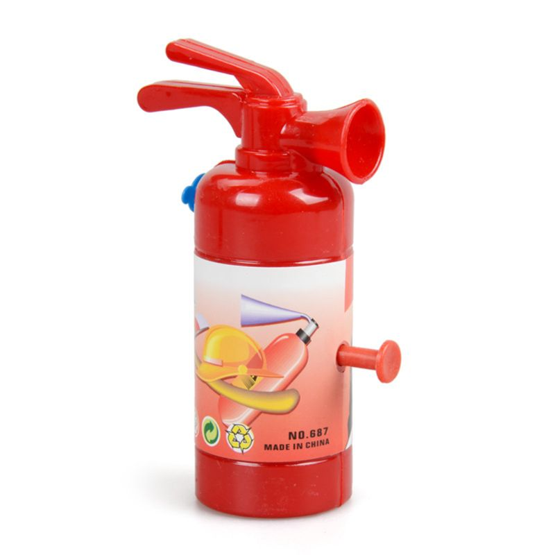 Mini Fire Extinguisher Water Gun Toy Fireman Kids Toys Gag Joke Outdoor Summer Beach Toy