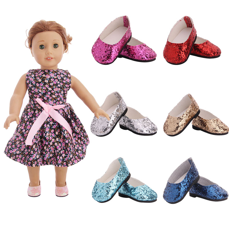 Doll Color Chip Shoes For 18 Inch American Doll & 43 Cm Born Baby Our Generation Christmas Birthday Girl's Gift