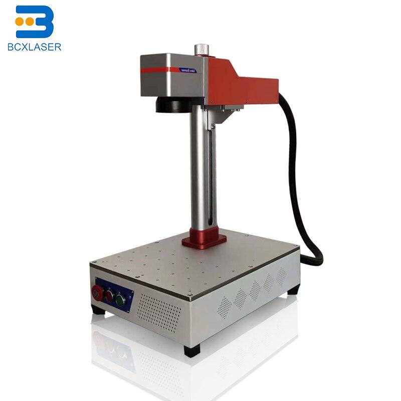 30 Вт 50 Вт 100 Вт 200 Вт портативная волоконная лазерная маркировочная машина лазерный генератор raycus Co2 лазерный маркеровочный гравировальный с