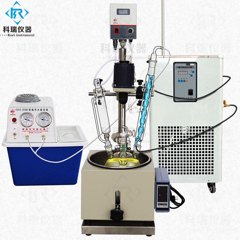 3L Piccolo Laboratorio reattore di vetro con acqua vasca da bagno riscaldatore - 6