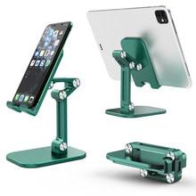 Soporte plegable para teléfono móvil y tableta de escritorio, ajustable, para iPhone, iPad, ángulo de altura