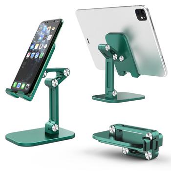 Składany uchwyt na Tablet biurkowy uchwyt na telefon komórkowy stojak na iphone #8217 a iPad regulowany kąt wysokości tanie i dobre opinie auswaur Brak funkcji CN (pochodzenie) Uniwersalny