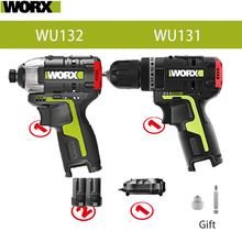 Worx 12v Brushless Motor Cordless Impact Screwdriver WU132 140Nm Cordless Impact Drill WU131 Adjust professional tool Combe Set