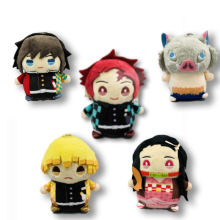 Japan Anime Demon Slayer: Kimetsu no Yaiba Tomioka Giyuu Cosplay Cute Plush Dolls Figure Keychain Pendant Keyring Unisex Gifts