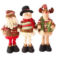 Christmas Decoration Large Santa Claus Snowman Christmas Natal Retractable Standing Christmas Doll Elk Doll Kids New Year Gift