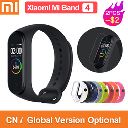 Versión Global original xiaomi mi band 4 color 2019 de pantalla última música pulsera inteligente ritmo cardíaco fitness 135mAh bluetooth 5,0