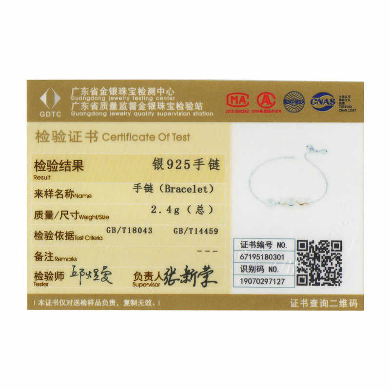 WOSTU Real 100% 925 Sterling Silver Original สร้อยข้อมือสตรี CHAIN Link กำไลข้อมืองานแต่งงานแฟชั่นผู้หญิงเงิน 925