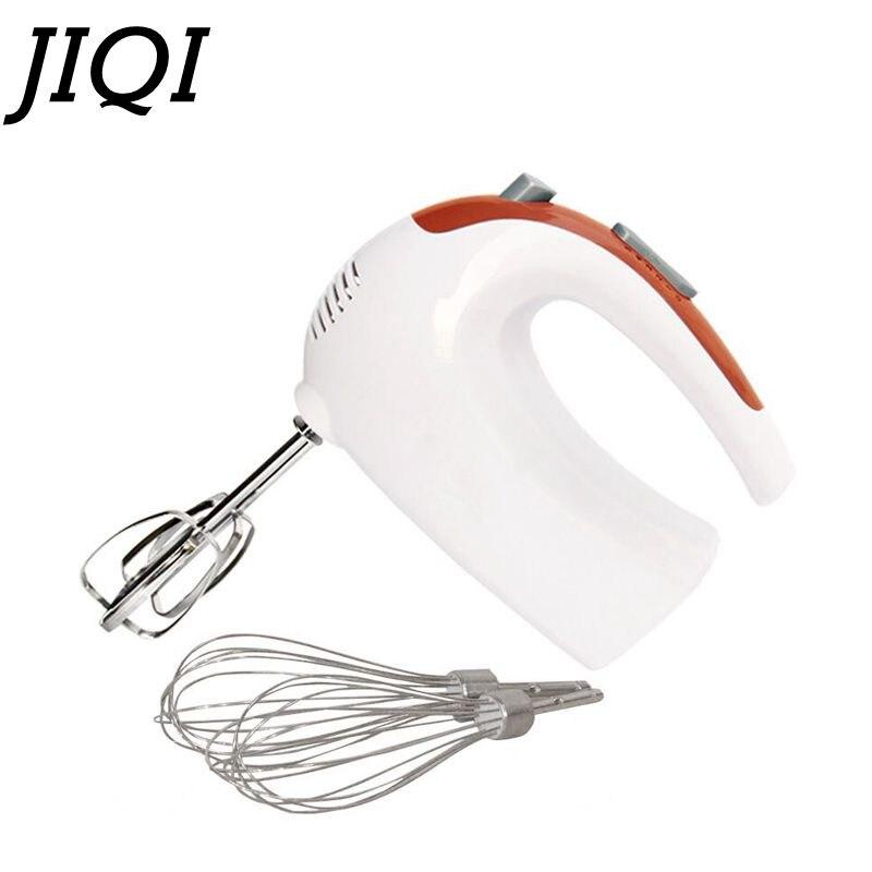 JIQI многофункциональный мини Электрический миксер для еды 220 В 5 скоростей ручное приспособление для взбивания яиц кухонный комбайн домашний инструмент для выпечки