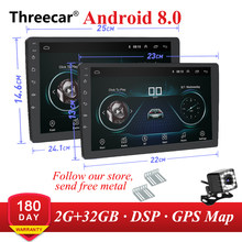 9 10 Inch Android 8.1 Gps Navigasi Autoradio Multimedia DVD Player Bluetooth WIFI Mirrorlink DSP OBD2 Universal 2Din Mobil Radio(China)