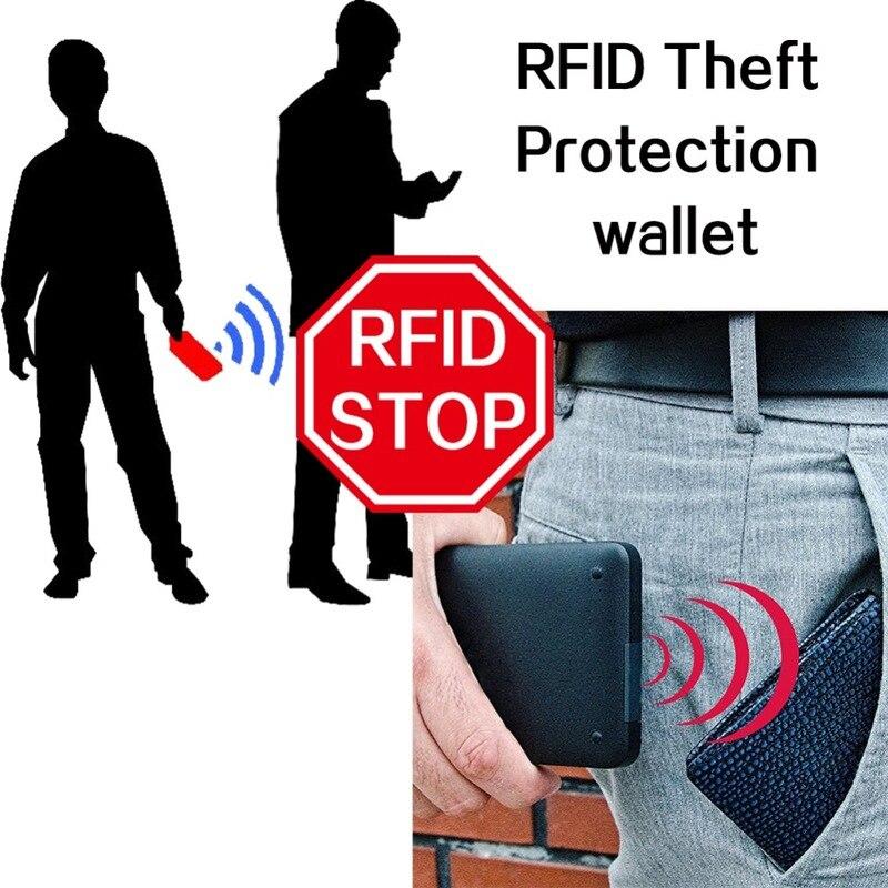 Vintage Men Wallet RFID Theft Protect Coin Bag Zipper Purse Wallets for Men with Zippers Magic Wallet Short Luxury Men's Purses 5