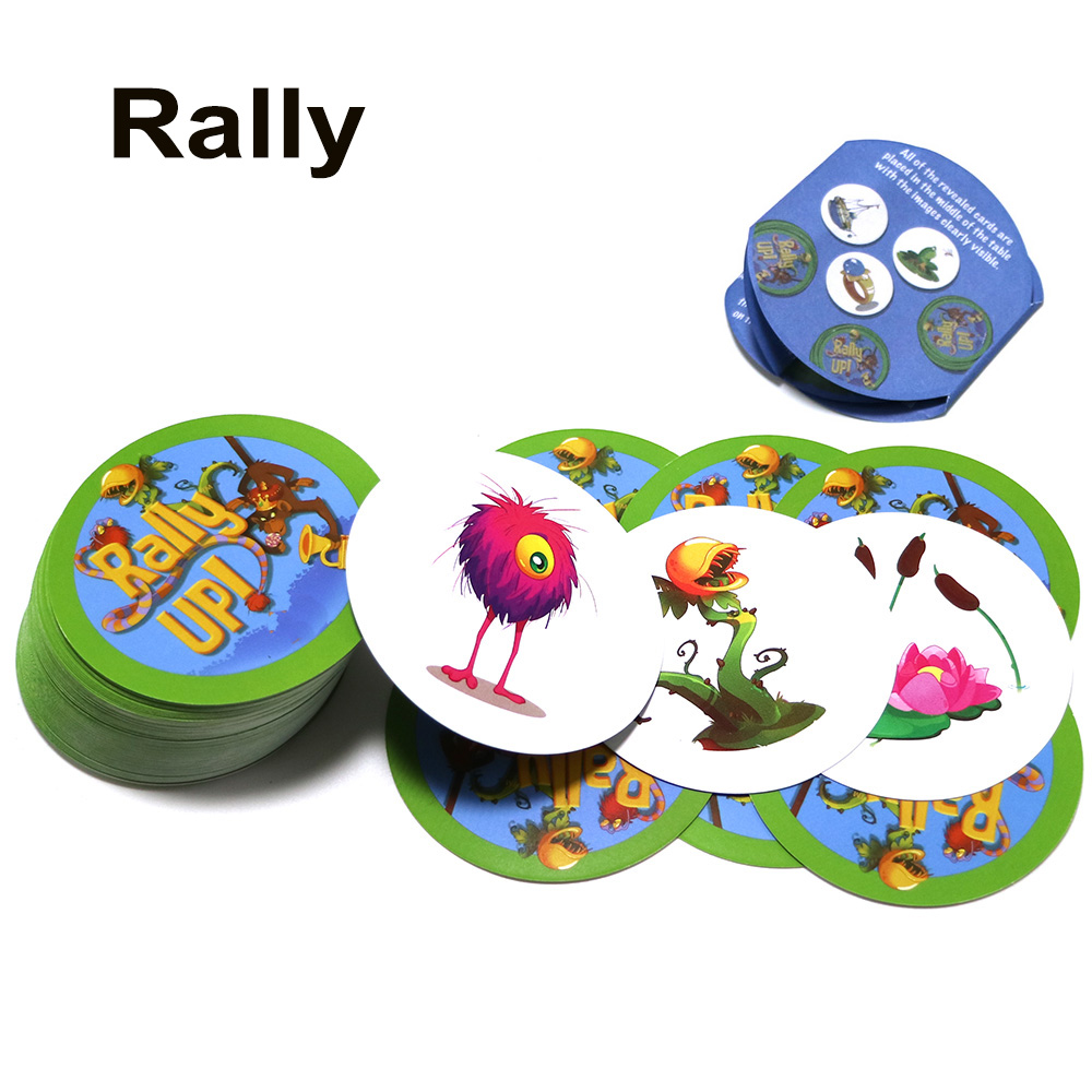 New Arrival Rally Category Up Board Game 121 Cards Animals Plants Education Game For Kids School Family Party Card Game