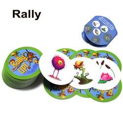 Nouveauté rallye catégorie up jeu de société 121 cartes animaux plantes éducation jeu pour enfants école famille fête jeu de cartes