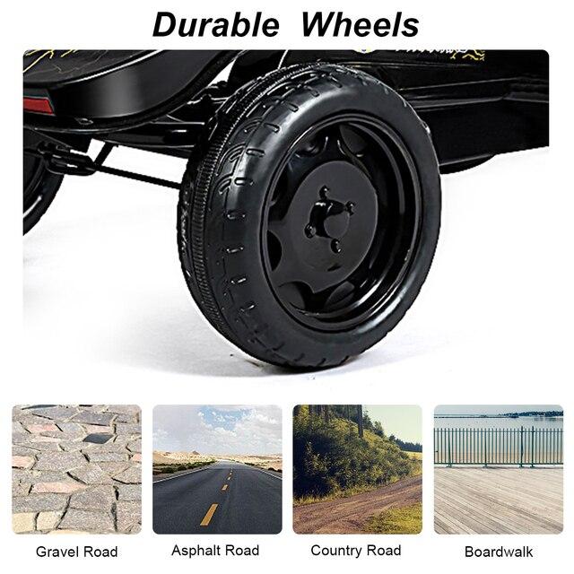 Gehen Kart Pedal Angetrieben Kinder Fahrt auf Auto 4 Rad Racer Spielzeug w/Kupplung & Hand Brems
