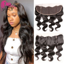 Beauty Forever Brazilian Body Wave Lace Frontal Closure 13*4 Free Part Ear to Ear Remy Human Hair 10 20inch Free Shipping