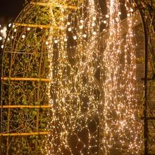 Solar Powered 200/400LEDs Vines lights Copper Wire Branch lights string lights Cafe Christmas Wedding Party Decor string lights