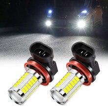 2pcs H8 H11 Lâmpadas Led Luzes de Nevoeiro Carro Lâmpada luz de nevoeiro Para bmw X1 X3 X4 X5 X6 X7 e46 e90 e39 e60 f10 f20 audi a4 a6 q5 a3 Benz