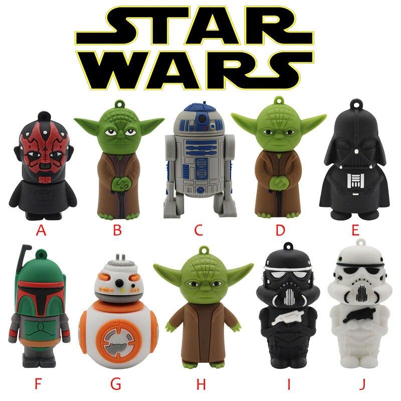 BiNFUL  Wars Star Yoda Darth Vader Pendrive 4G 8G 16G 32G 64G Usb 2.0 Usb Flash Drivdriveck Pendrive