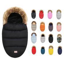 Baby Stroller Sleeping Bag Winter Warm Sleepsack Windproof For Infant Wheelchair Envelopes Footmuff Newborn Sleepsacks