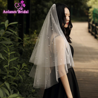 Fashion New Veil Bridal Wedding Veil Wedding Accessories Bridal Veils Pearl Veil Combs Wedding Party Veils For Girl Dresses