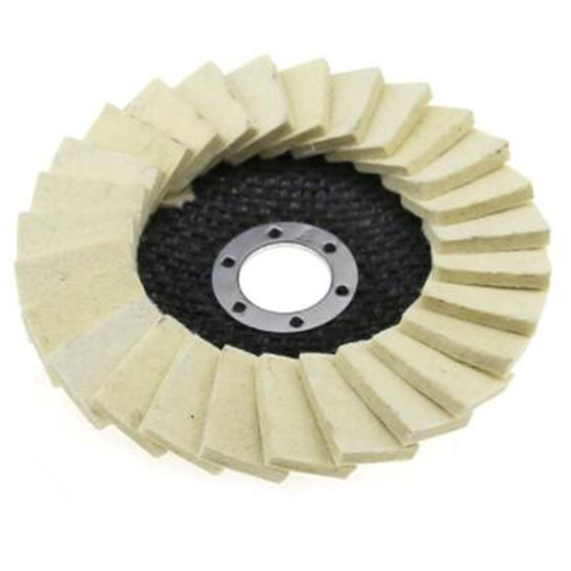 2019 Creative 12.5cm Diam Wool Felt Flap Polishing Disc For Angle Grinder To Polish Metal Glass Abrasive Tools Home Tools