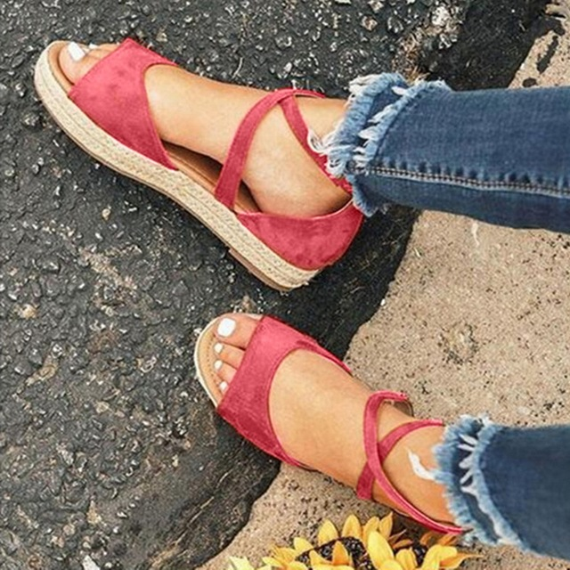 Flat ankle strap summer sandals for women 5