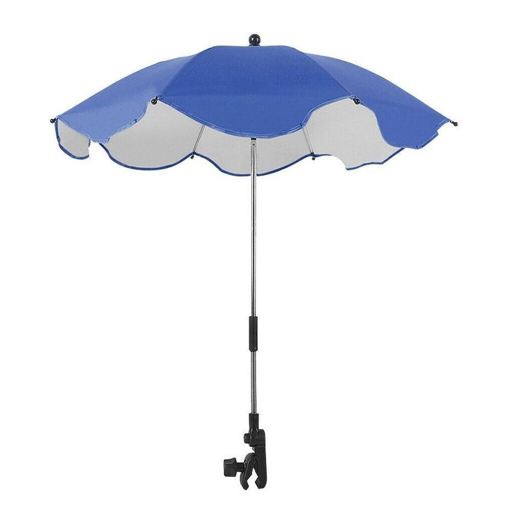 Mult-color Adjustable Stroller Umbrella Rain UV Protection Baby Anti-Sai Umbrellas Pram Parasol Shade Tool For Strollers Su F8R0