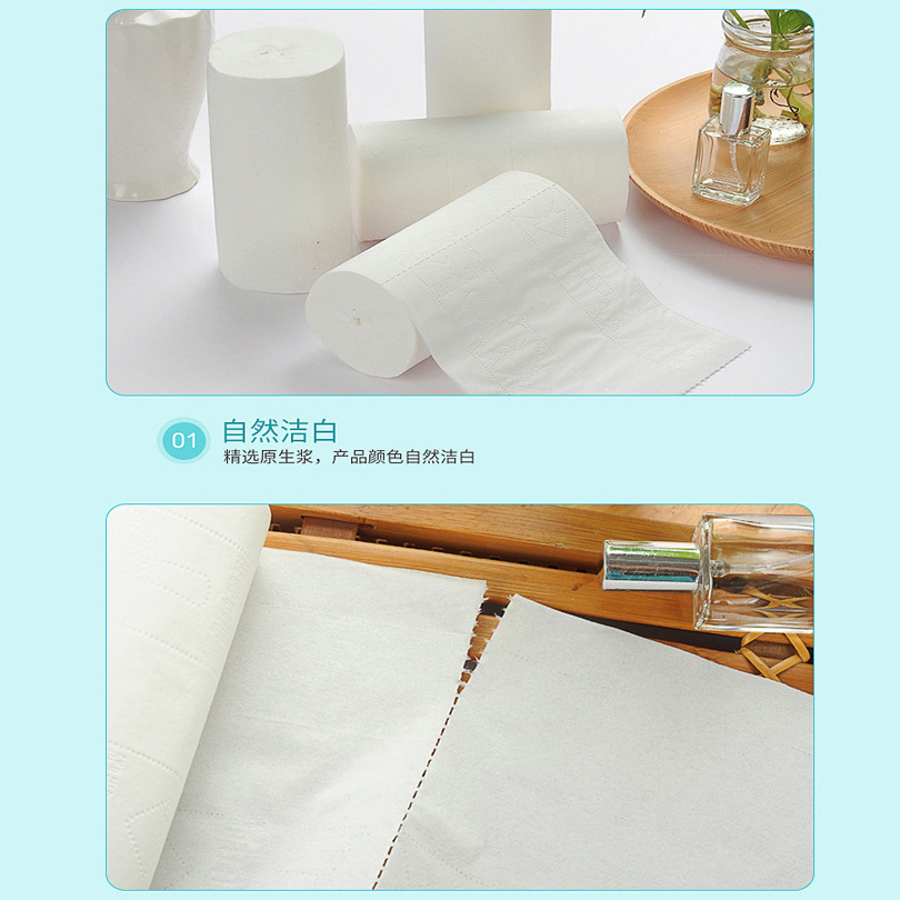 12 Rolls Paper Hand Towels Toilet Paper Toilet Roll Tissue Napkin Soft Comfortable Kitchen Home Accessories Paper