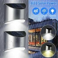 Luz Led Solar de colector al aire libre para vallas, lámpara de paso para jardín, iluminación de seguridad alimentada por energía Solar impermeable para casa, valla de patio
