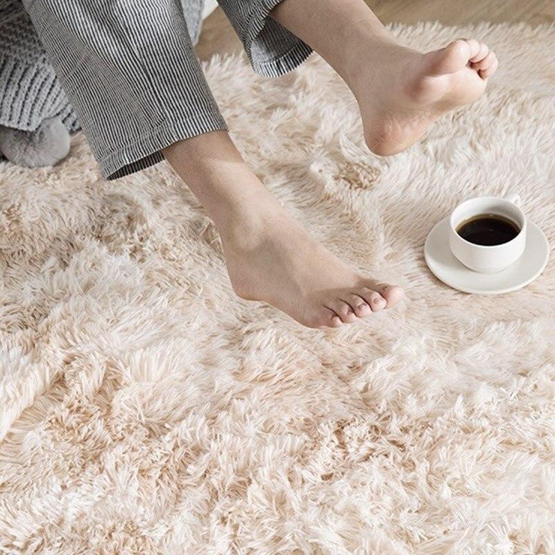 Tapis de sol tapis moelleux tapis de zone chambre tapis décoration anti-dérapant Shaggy 160x200cm Tie-Dyed