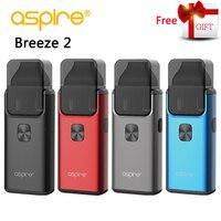 Электронная сигарета Aspire Breeze 2 AIO Vape Комплект Встроенный аккумулятор 1000 мАч 3 мл/2 мл бак распылитель vaporizador Vaper VS ijust s