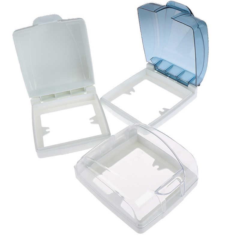 Interruptor de pared de plástico caja de cubierta a prueba de agua 86 tipo de Panel de luz enchufe timbre tapa cubierta transparente baño cocina accesorio