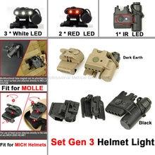 Ночь Эволюция Тактический шлем светильник Набор gen 3 Белый