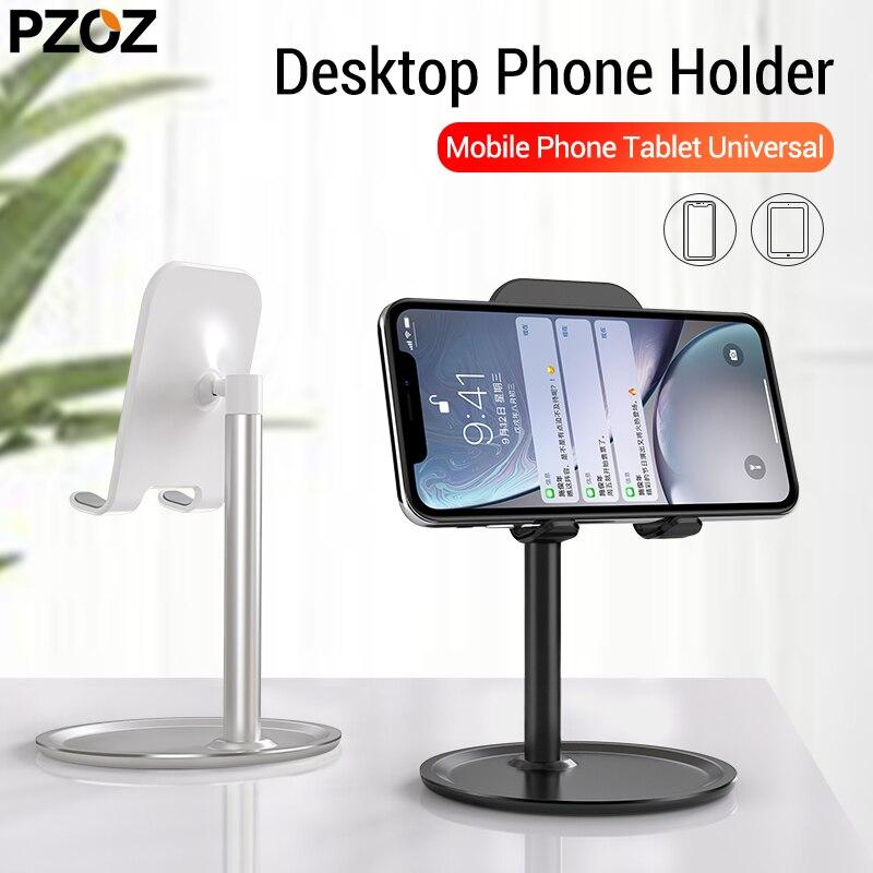 Pzoz suporte do telefone móvel suporte do telefone celular tablet universal suporte de mesa para o iphone x 8 7 samsung desktop suporte do telefone acessórios