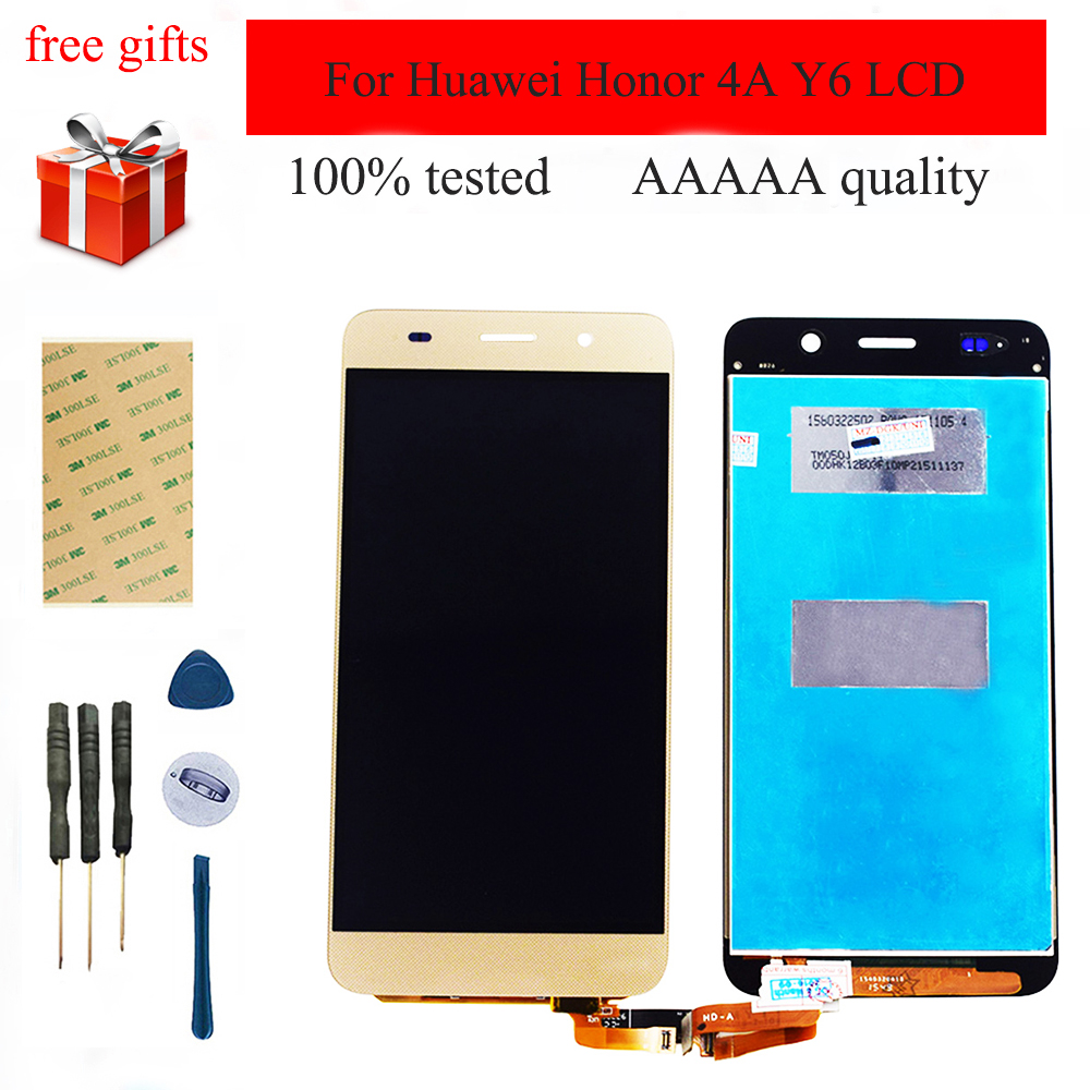 Für Huawei Honor 4A Y6 SCL-L01 SCL-L21 scl-u31 Touchscreen Digitizer Sensor Glas Panel + LCD Display Monitor Modul Montage
