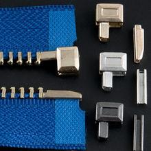 10 комплектов, металлические пробки для молнии, открытые концевые пробки для молнии, аксессуары для шитья, застежка-молния M5T9 «сделай сам» дл...