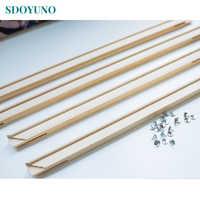 DIY картина по номерам SDOYUNO, деревянная рамка 40x50 см 50x65 см 60x75 см, комбинация, уникальный подарок, настенная художественная картина