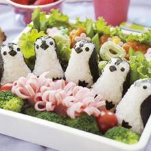 Onigiri Mold Sushi-Maker Sandwich Bento-Punch Kitchen-Tool Diy-Gadgets Rice-Ball Cute