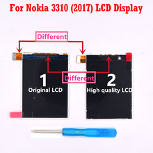 HKFASTEL New Original Mobile phone LCD For Nokia 3310 2017 3