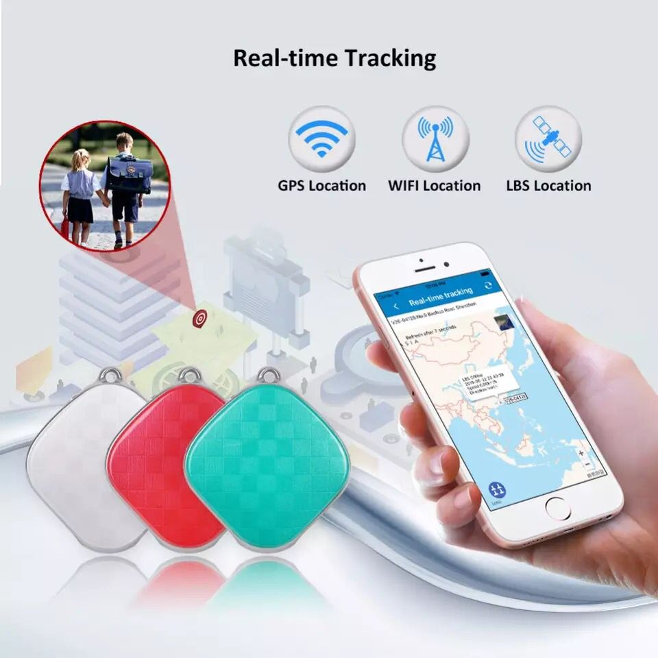 Mini Personal GPS Tracker Kids Free Internet APP Pet Dog GPS Real-Time Tracking SOS Alarm Voice Monitor For Old Man Children Pet
