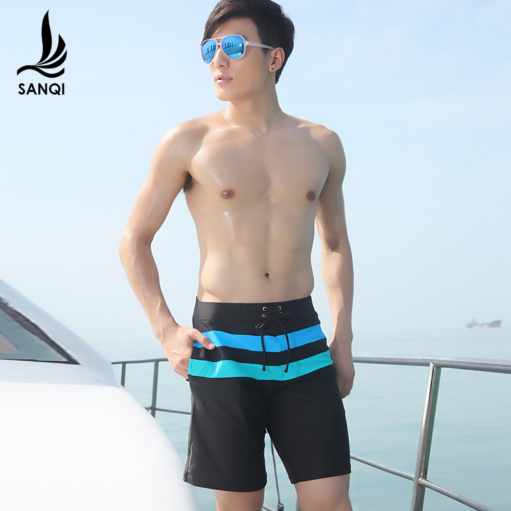 Manufacturers Direct Selling Sanqi Swimming Trunks Short Boxer Beach Shorts Casual Profession Sports Plus-sized Large Size MEN'S