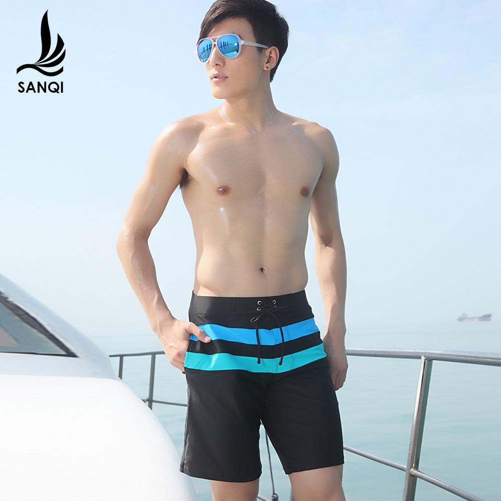 Sanqi Swimming Trunks Short Boxer Beach Shorts Leisure Sports Plus-sized Plus-sized Men's Swimsuit